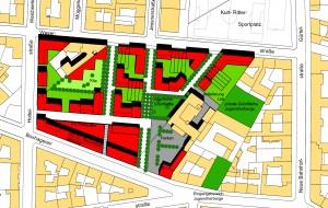 Städtebauliches Konzept Block 74 Boxhagener Straße