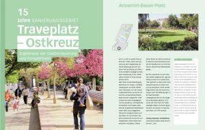 """Broschüre zum Abschluss der Sanierung im Gebiet """"Traveplatz-Ostkreuz"""""""