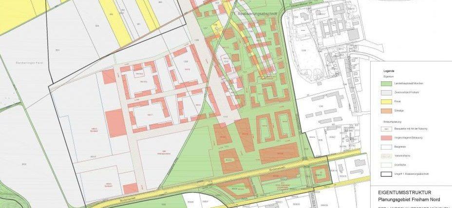 Karte Eigentumsstruktur Freiham 1. Realisierungsabschnitt