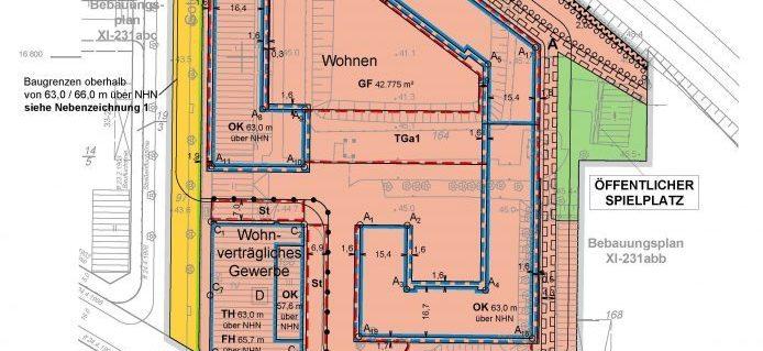 Bebauungsplan-Entwurf 7-81VE Tempelhofer Weg